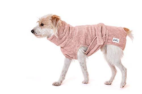 Lill's Hundebademantel, 100% Bio-Baumwolle, Organic Pinkberry (Rosa/Pink) (XS)