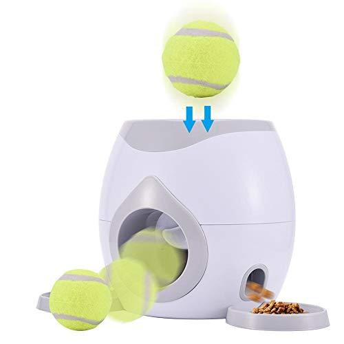 WXGY Futterautomat für Hund & Katze, Für Haustiere Und Besitzer Automatischer Ballwerfer Hunde Haustier Interaktives Tennisball Wurfgerät Für Hunde Trainingshaustier Ballwurfmaschine Für Hunde