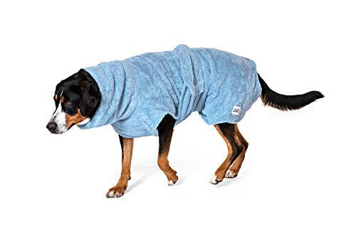 Lill's Hundebademantel, 100% Bio-Baumwolle, Organic Ocean Blue (Blau) (XL)