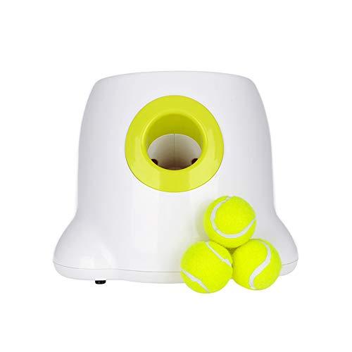 KKTECT Automatischer Ballwerfer, automatische Ballmaschine, Tennisballmaschine, interaktives Puzzle-Spielzeug für Hunde IQ-Training, inklusive 3 Bällen
