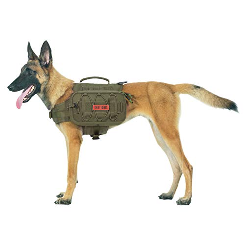 OneTigris Mammoth Hunderucksack 2.0 Version Reißen Camping Wandern Hundebackpack für M/L Größe Hunde |MEHRWEG Verpackung (L, Ranger Grün)