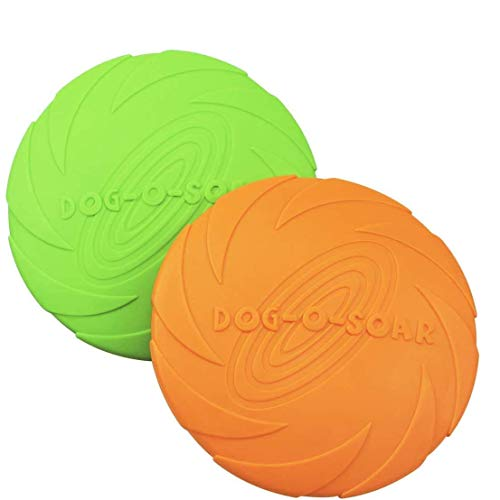 HIQE-FL Dog Frisbee Disc,Weiche Hunde Frisbee,Gummi Frisbee,Hundefrisbee,Hundespielzeug Frisbee,Interaktives Spielzeug für Hunde,Hund Scheibe,Spielzeug für Große Hunde (15cm)