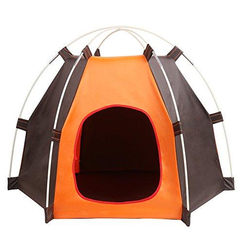 ERUW Haustier Nest Faltbares Zelt Hundehaus, Reise Camping Tragbar Haustier Käfig Hundebett Katzennest Tür Eingang Größe 20 x 24 cm