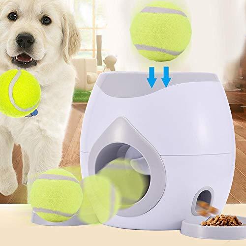 KiGoing Ballwurfmaschine Hunde Activity Futterautomat Haustier Futterspender Mit Tennisball -Werfer Automatische Interaktive Nahrungsmittelzufuhr Spielzeug Für Hunde Katzen Und Andere Hasutiere