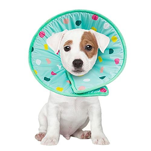 Haustier Halskrausen zur Erholung nach Einer Operation, Wundheilung Anti-Biss/Leck für Hunde und Katzen (S)