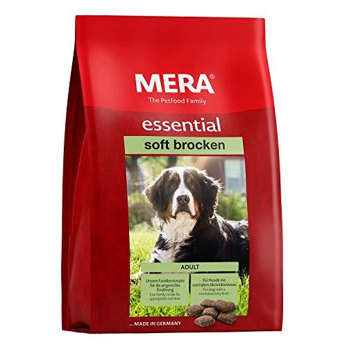 MERA essential Hundefutter  Soft Brocken  Halbfeuchtes Trockenfutter für ausgewachsene Hunde mit normalem Aktivitätsniveau - Ohne Zucker & Konservierungsstoffe (12,5 kg)
