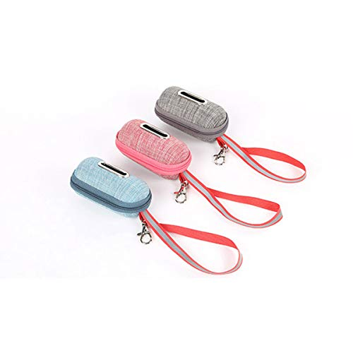 Maliwan Hundekotbeutelhalter, tragbarer Kotbeutelspender für Outdoor-Aktivitäten, Walking, Laufen und Wandern, mit Nylon-Schlüsselband und Schnalle (3 Stück/Set)