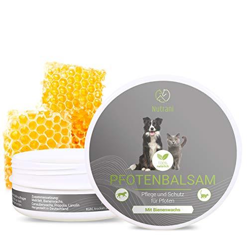 Nutrani Pfotenbalsam mit Bienenwachs für Hunde und Katzen | 100ml – 100% natürlicher Balsam – geeignet für die Pfotenpflege und den Pfotenschutz
