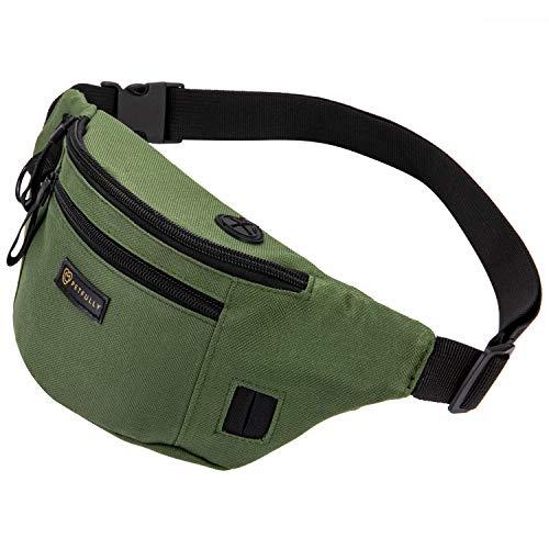 PETFULLY - 2in1 Snackbeutel & Kotbeutelspender, Futterbeutel für Hundetraining und Erziehung, als Hüfttasche oder Schultertasche einsetzbar, 3 Fächer mit Reißverschluss, 30 x 11 x 7 cm