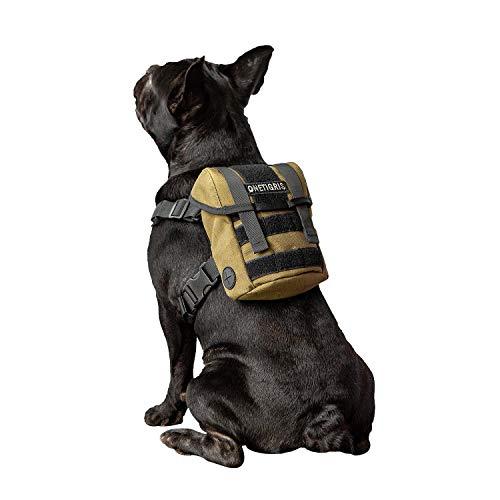 OneTigris Eureka K9 Hunderucksack, Kleiner Hundebackpack mit Kotbeutelspender zum täglichen Wandern für kleine Hunde