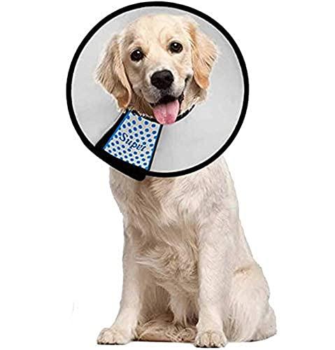 Supet Halskrause für Haustiere Schutzkragen Kegel Krägen aus Kunststoff Besondere Schutz für Katzen Kleine Hunde und Kaninchen (XXL(Halsumfang: 48-55cm))