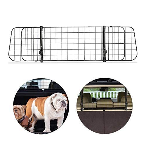 Relaxdays Hundegitter Auto, Trenngitter Universal, verstellbare Breite, Autogitter Maße H x B: 32 x 92-136 cm, schwarz