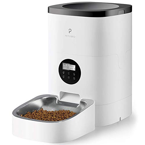 PETLIBRO Automatischer Futterautomat für Katze und Hund, 4L Automatischer Futterspender mit programmierbare Portionskontrolle 1-4 Mahlzeiten pro Tag & 10s Voice Recorder für kleine/mittlere Haustiere