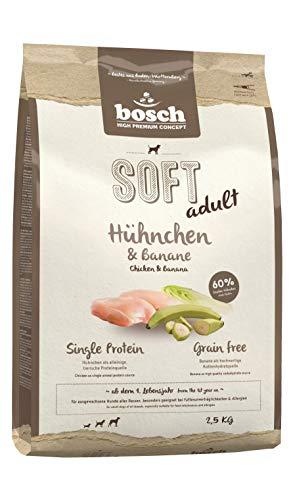 bosch HPC SOFT Hühnchen & Banane | halbfeuchtes Hundefutter für ausgewachsene Hunde aller Rassen | Single Protein | Grain-Free | 1 x 2.5 kg