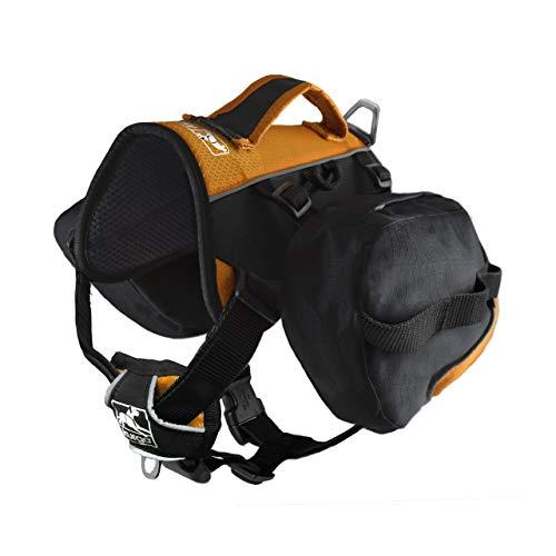 Kurgo 1583 Hunde-Rucksack zum Wandern, 30-85 lbs, schwarz/orange