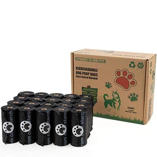Dumi Pets Biologisch abbaubare Kotbeutel, extra dick und stark,20 Rollen für 300 Stück Hundekotbeutel,