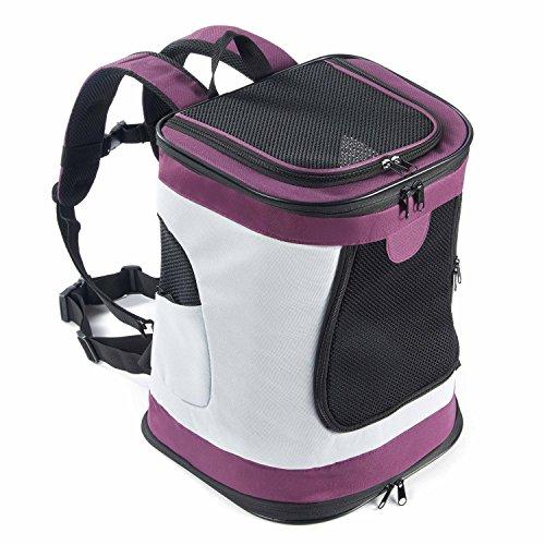 PETTOM petcomer SBC5148 Haustiertragetasche für Hunde und Katzen Faltbarer Rucksäcke gut für Wander-Kampagne Tägliche Verwendung, Einheitsgröße, Purple