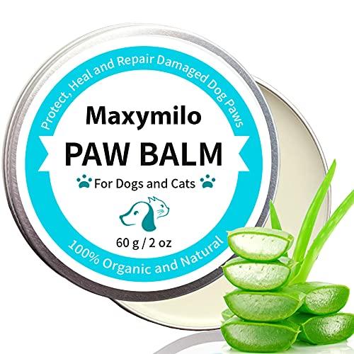 Maxymilo's Bio Pfotenpflege Hund mit Shea Butter und Aloe Vera, Pfotenschutz Hund, Pfotenbalsam für Hunde, natürliche Pfotencreme für Hundepfoten und Katzen im Winter und Sommer