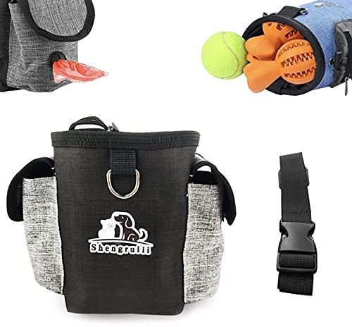 Shengruili Futterbeutel Für Hunde,Futterbeutel Hundetraining,Wasserdicht Futtertasche,Hundetraining Treat Pouch,Trainingsbeutel Hund,Tragbare Dog Snack Tasche,Futtertasche.