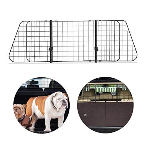 Relaxdays Hundegitter Auto, Trenngitter Universal groß, verstellbare Breite, Autogitter Maße HxB 40 x 92-157 cm, schwarz
