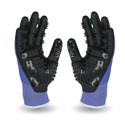 PEGACARE Fellpflege Handschuhe S,M,L,XL-optimale Tierpflege für Pferde, Hunde und Katzen. Die durchdachte Alternative zur Tierhaar Bürste. 1 Paar. Genieße das Kuscheln mit Deinem Vierbeiner! M