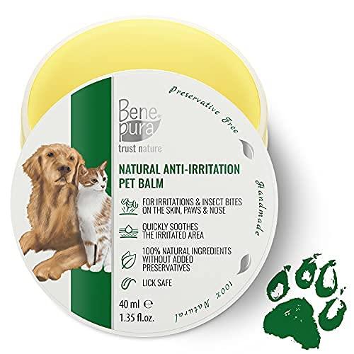 Bene Pura Trust Nature 100% Нatürlicher Anti-Reizung Haustier Balsam - Für Pfoten, Nase, Haut - Für Hunde & Katzen 40ml