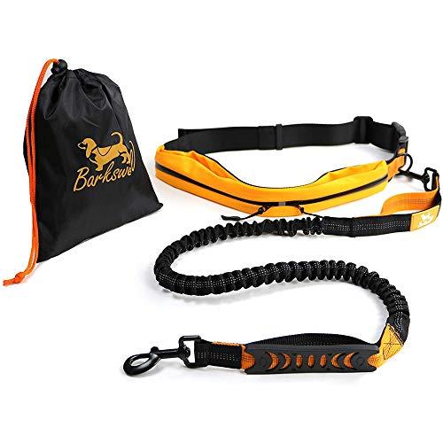 Joggingleine Hunde - Handfreie Hundeleine für Rennen, Laufen und Wandern – Bauchgurt Hundeleine - Elastische Bungee-Leine mit Griff für Hunde bis zu einem Gewicht von 60kg