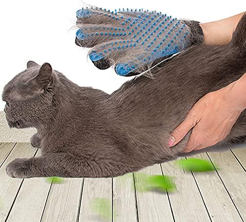 SSRIVER Haustier-Fellpflegehandschuh, Haarentferner, Bürste, sanftes Desheddern, effizientes Haustier-Handschuh, Massagehandschuhe, für Links- und Rechtshänder, für Hunde und Katzen, Pferde.