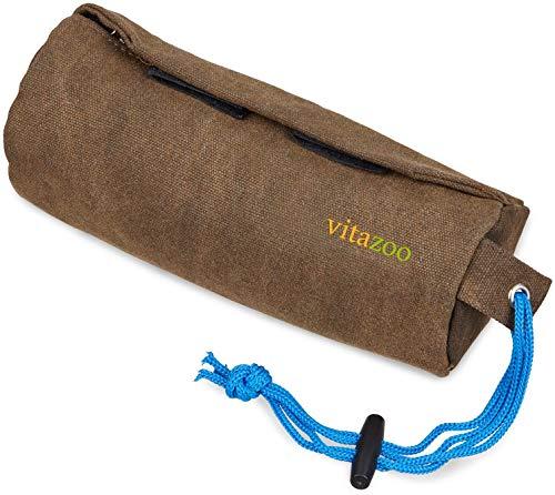 Vitazoo Futterbeutel für Hunde - Futterdummy für Hundetraining - kleiner Dummy, Apportierbeutel für Leckerlie, Nass- und Trockenfutter