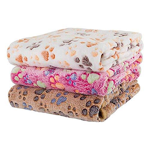 STARSAIL Hundehandtuch 3er-Pack, Saugfähig, Weich u. Waschbar (76cm X 52cm), Handtuch Hunde, Mikrofaser Badehandtuch für Haustiere, Badehandtuch für Hunde/Katzen, Hunde Bademantel Schnelltrocknend