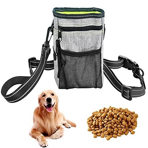 Xionghonglong Futterbeutel für Hunde,Hunde Leckerlie Tasche,Wasserdicht Futtertasche,Leckerlibeutel für Hunde,Hunde Futtertasche Beutel,für Hunde zur Hundetraining und Futteraufbewahrung (Grün)