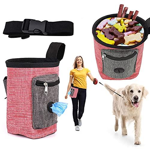 Sunshine smile Futterbeutel Für Hunde,Dog Snack Tasche Abnehmbare,Wasserdicht Futtertasche,Hundetraining Treat Pouch,Trainingsbeutel Hund,Tragbare Dog Snack Tasche,Futtertasche.