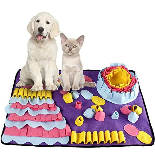 Smatcamp Schnüffelteppich Hund Intelligenzspielzeug Schnüffelteppich für Hunde Waschbar Faltbar Rutschfest Schnüffelspielzeug Hundespielzeug Intelligenz Spielzeug für Hunde Katzen Haustier