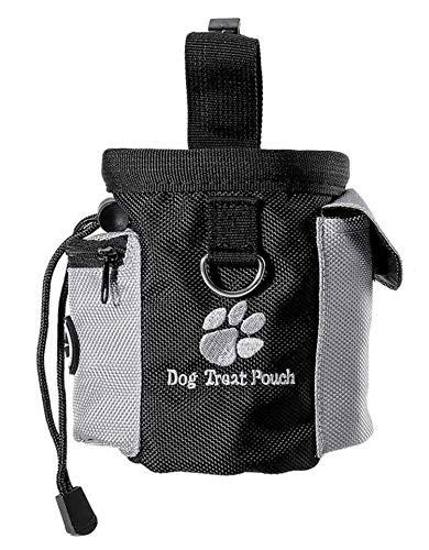 Rcoko Futterbeutel für Hunde,Hunde Leckerlitasche Snack Bag mit Clip & Verfügbares Tasche Schultergurt für Hundetraining und Ausbildung - Wasserfest und Abwaschbar - 12.5x8x12.5 cm