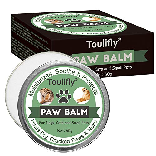 Toulifly Paw Balm, Paw Soother Cream, Nasen und Haut Balsam für Hunde & Katzen | Feuchtigkeitscreme zur Reparatur von trockener und rissiger Haut | Für die Haut Ihrer Haustiere und deren Pfoten