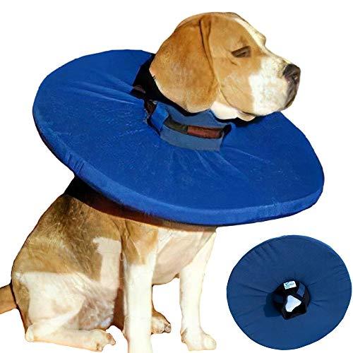 Tepaw Tier-Kragen - Premium-Leckschutz blau (Gr. 3) Halskrause für Dein Haustier - Der patentierte Schutzkragen für kleine Katzen bis zum großen Hund
