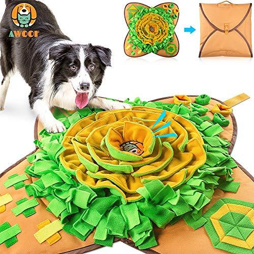 AWOOF 【Aktualisierte Schnüffelteppich Hund groß Intelligenzspielzeug für Hunde Schnüffelspielzeug Langlebiges Interaktives Hundespielzeug Fördert Die Natürlichen Futtersuchfähigkeiten